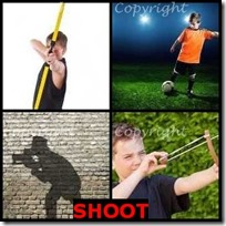 SHOOT- 4 Pics 1 Word Answers 3 Letters