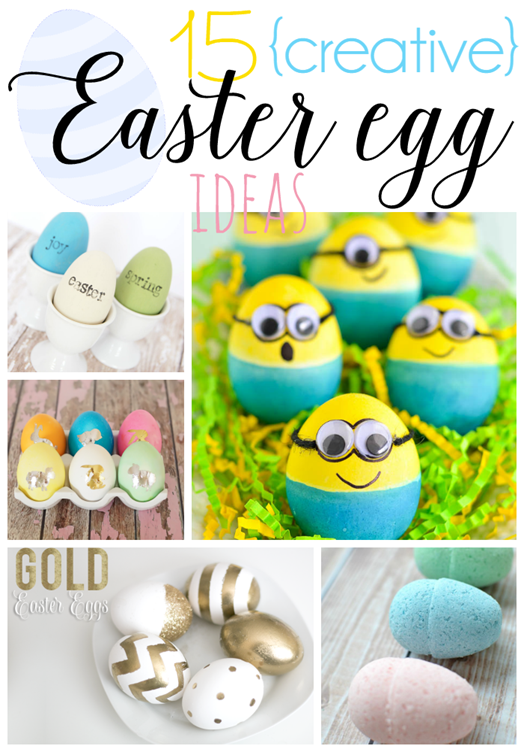 15 Creative Easter Egg Ideas at GingerSnapCrafts.com #Easter #eggs #linkparty #features[4]