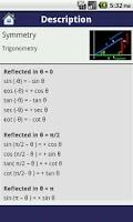 Screenshot of Maths Formulae (Free)