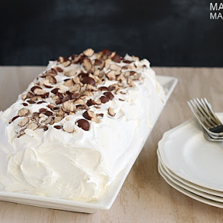 Layered Malted Milk Ice Cream Cake.