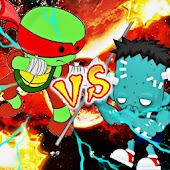 Turtles Fighting Games Zombie