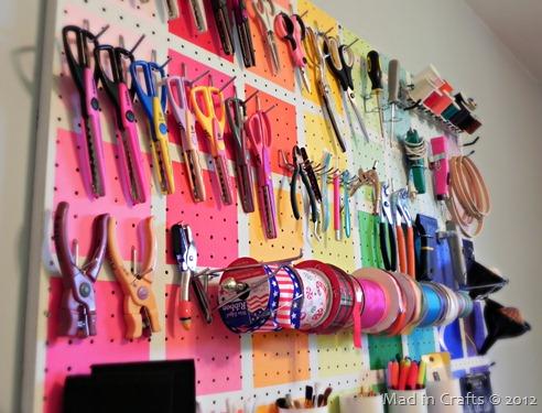 Craft Tool Pegboard Tutorial