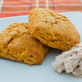 Pumpkin Biscuits with Cinnamon Honey Butter