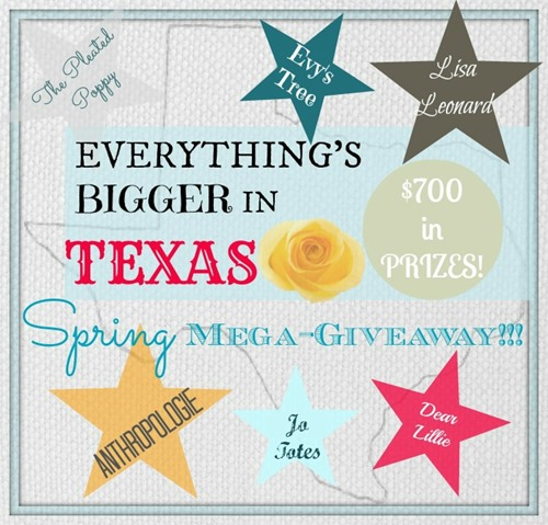 Everything Is bigger in Texas Giveaway at C.R.A.F.T.