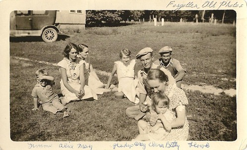 Group May Gladys and Lloys solway  Overland or Dodge car  Solway
