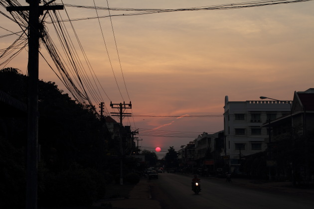 Sunset at Pakse