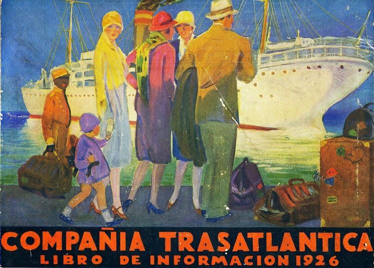 Anuncio de los cruceros. Libro de Información para el Pasajero. Compañia Trasatlantica. Año 1926..JPG