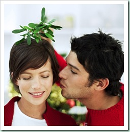 mistletoe kissing