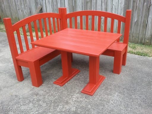 Ideal kids corner bench from a bed