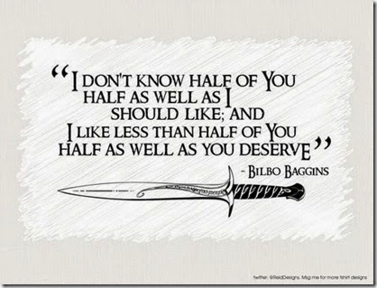 Bilbo Birthday Quote