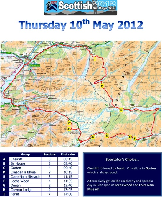 SSDT 2012 Thursday's route