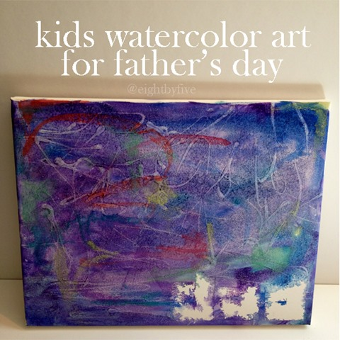 kids watercolor art painting for fathers day from eightbyfive copy