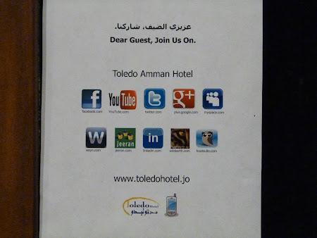 Cazare Iordania: Hotel Toledo si retelele sociale