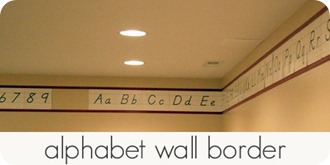 alphabet wall border