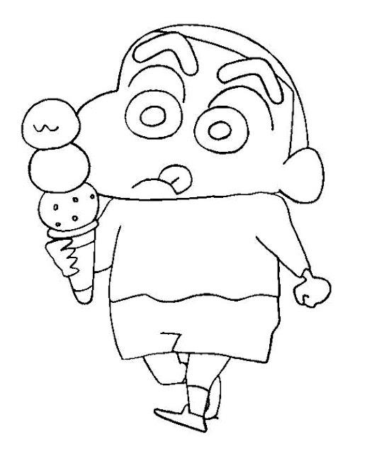 Shin chan dibujos para colorear for Shin chan coloring pages