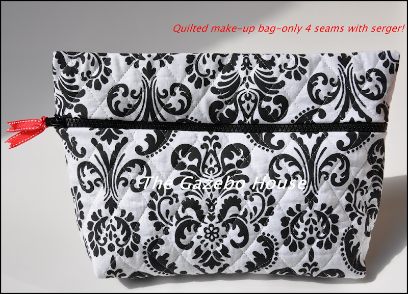 make up bag, labeled