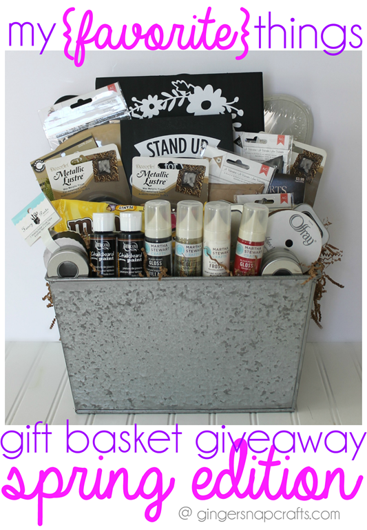My Favorite Things Gift Basket Giveaway @ GingerSnapCrafts.com #giveaway
