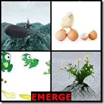 EMERGE- 4 Pics 1 Word Answers 3 Letters