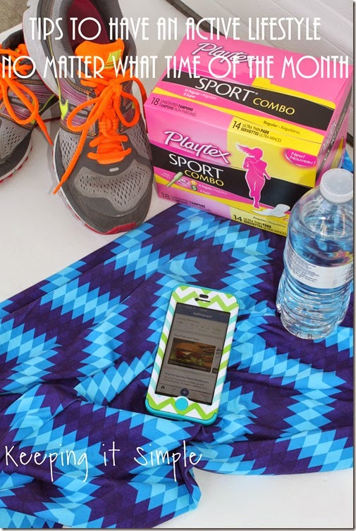 #ad Having-an-active-lifestyle-no-matter-the-time-of-the-month #FitToPlay