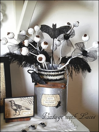 Black and White Halloween Vignette