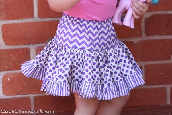 Tiered Gathered Skirt (4)