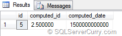 SQL Computed Column