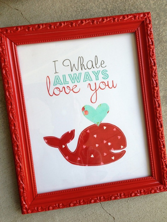 I whale always love you cheesy valentine