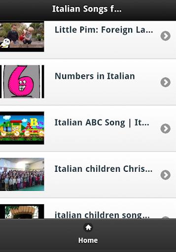 Italian Kids Songs