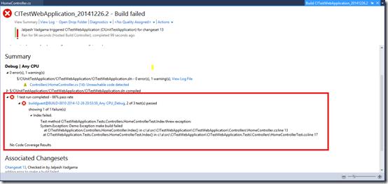 reason-for-build-fail