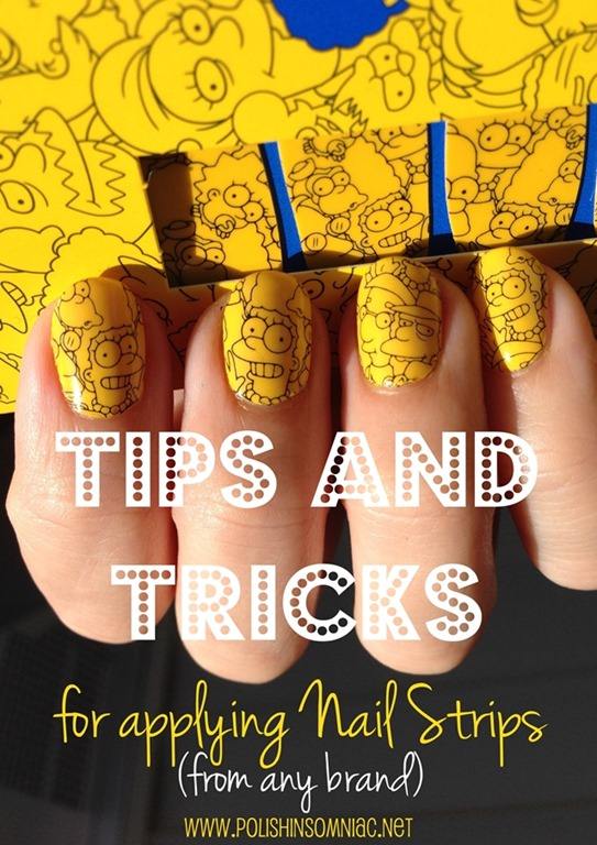 Polish Insomniac Tips And Tricks For Applying Nail Strips Featuring