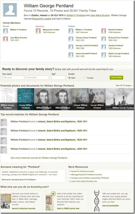 Ancestry.com.历史悠久的人营销页面