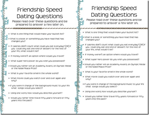 funny questions for speed dating