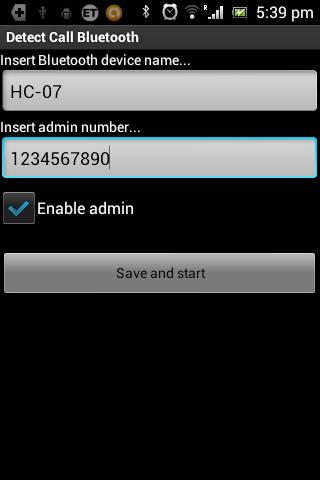 Detect call Bluetooth