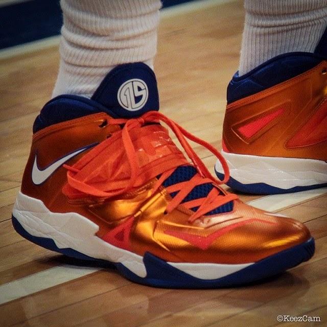 c663bdfc0fb Amare Stoudemire8217s Nike Soldier 7 Knicks PE 4th Version ...