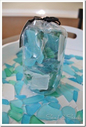 pouch of sea glass