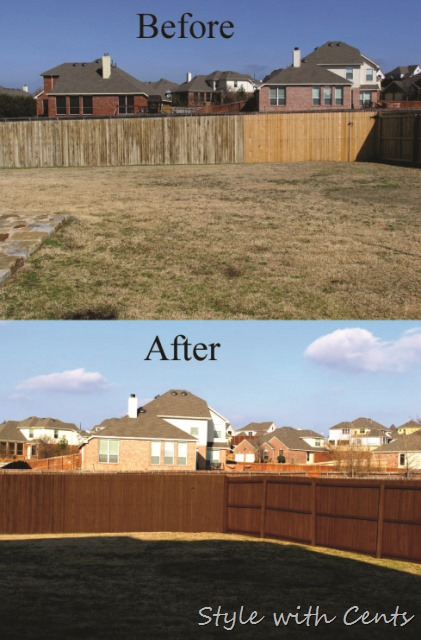 Style With Cents Staining Your Worn Out Fence For Dirt Cheap