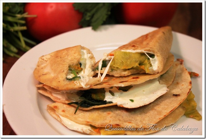 Squash blossoms quesadillas quesadillas de flor de calabaza squash blossoms quesadillas vegetarian quesadilla recipe authentic mexican recipes by mexico in my kitchen forumfinder Gallery