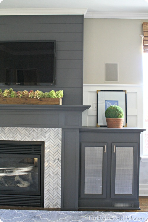 13 Planked Wall Finished Fireplace From Thrifty Decor