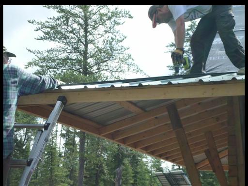 Aiki Homestead Installing The Hip Flashing On The Sauna