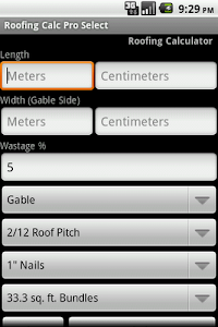 Roofing Calc Pro Select screenshot 0