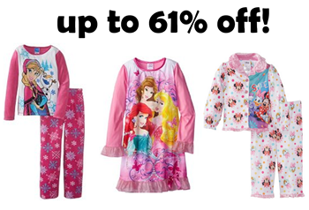 Disney sleepwear up to 61% off