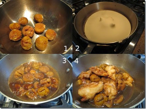 chestnuts and chicken composit