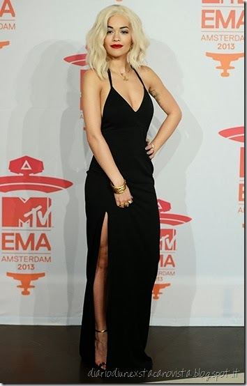 Rita Ora in Calvin Klein at MTV EMA 2013