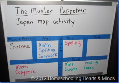homeschool schedule board