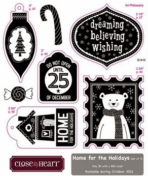 October 2014 Home For the Holidays Stamp Set