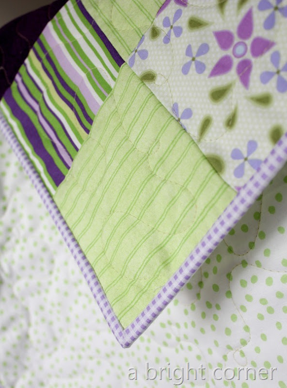 greens and purples binding