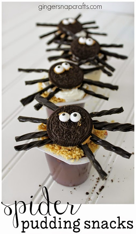 Spider Pudding Snacks #collectivebias #shop GingerSnapCrafts.com