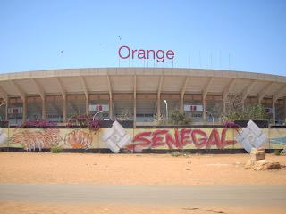 Une vue du stade Léopold Sédar Senghor de Dakar (Senegal)