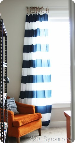 striped curtains boys room