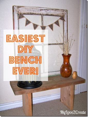 easy DIY bench